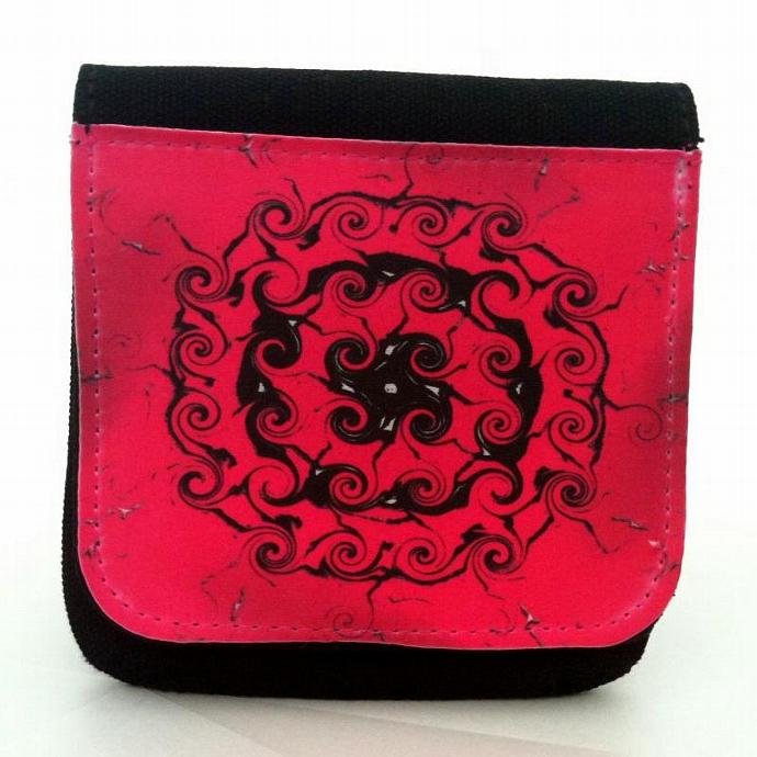 Pink Mandala Canvas coin wallet