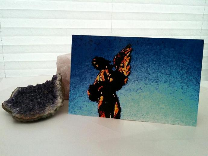 Angel Contemporay Digital Art Greetings Card