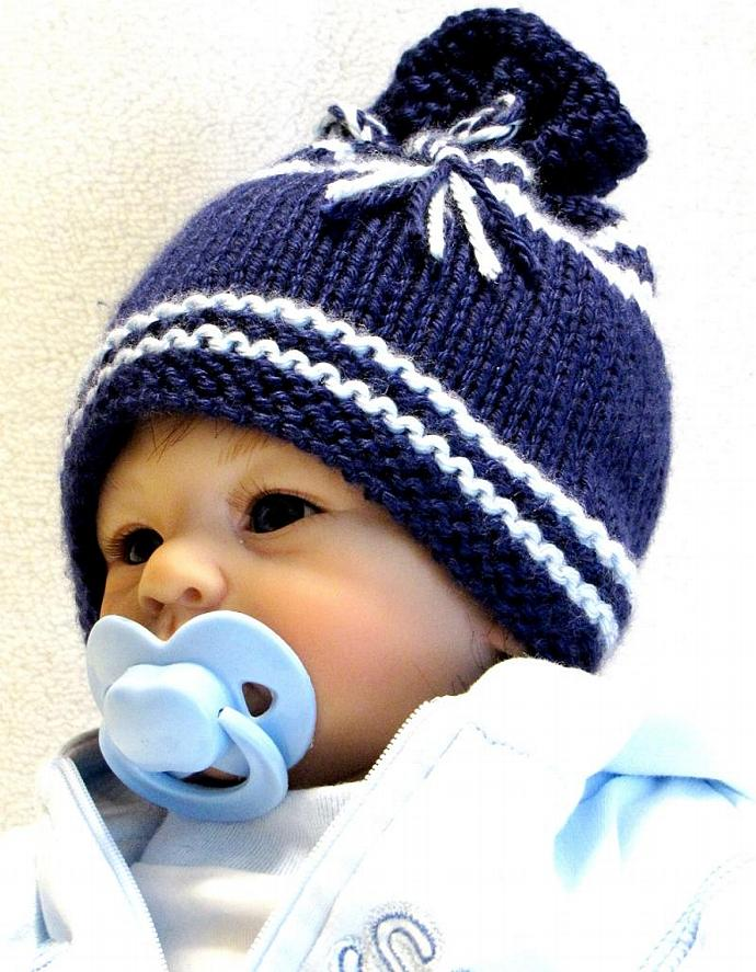 KNITTING PATTERN, Newborn - EZ Knit Baby Hat Pattern - Great as a Photo Prop -