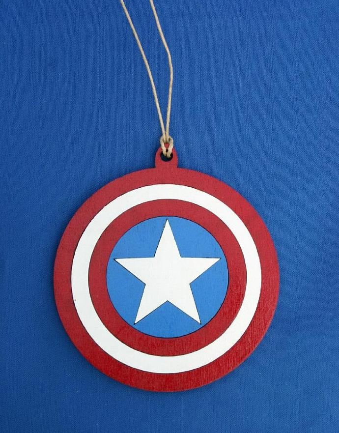 Captain America Shield Ornament
