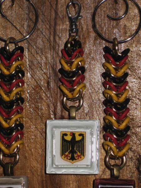 German Flag and Coat of Arms Zipper Pull