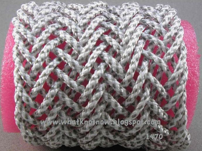 triple herringbone weave wide cuff bracelet adjustable bracelet   1470