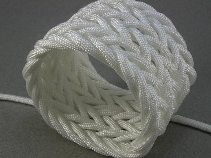 wide triple weave paracord rope bracelet herringbone pattern adjustable bracelet