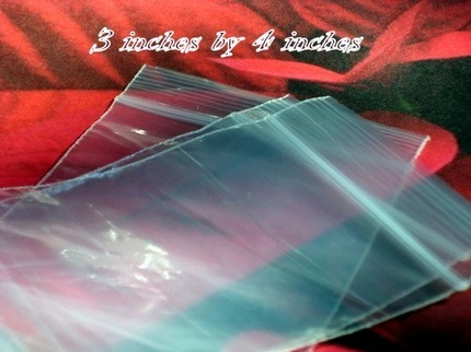 3x4 - 250 CLEAR RECLOSEABLE POLY BAGS