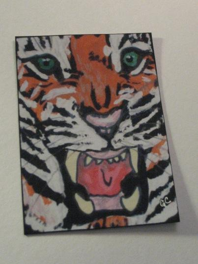 Aceo Print Tiger  from original art