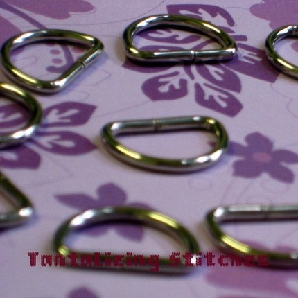 100 Unwelded D Rings - 15 mm for bags