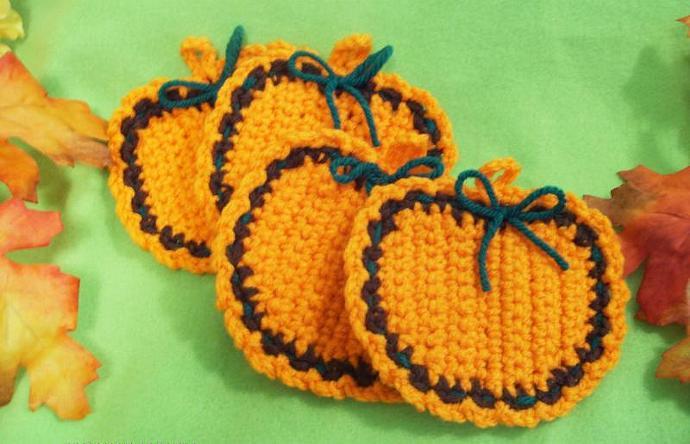 Autumn Pumpkin Coasters