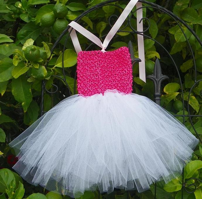 Baby Hot Pink Tutu Dress and Light Pink Halter Top Size 6 to 12 months