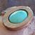 Cedar Wood and Natural Kingman Turquoise Pendant