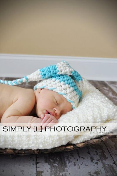 BLUE-O-LICIOUS Crochet Newborn Baby Photography Elf Hat Photo Prop