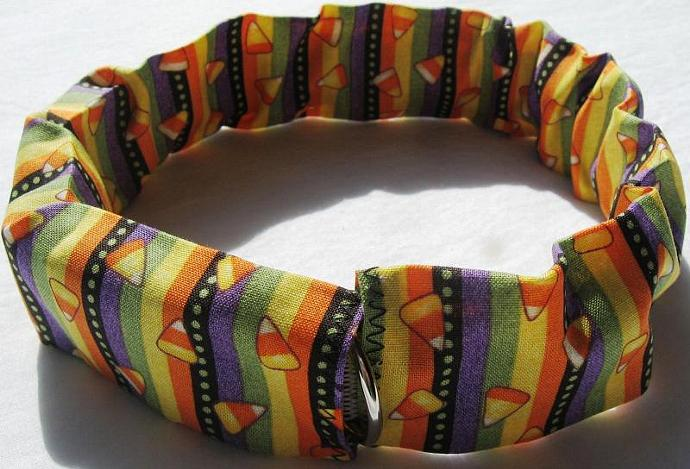 Halloween Candy Corn Dog Collar Cover, a bandana alternative