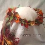 Kayla Forest Fairy Head Wreath of Autumn Leaves
