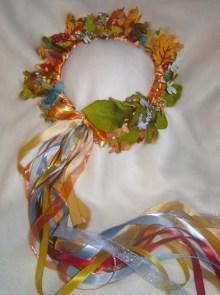 Tarot Empress Silk Leaf Head Wreath/ Renaissance Faire /Wedding/ Costume