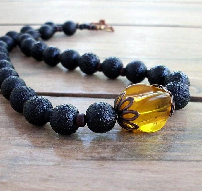 Golden Light Dark Night Choker