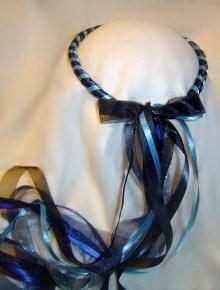 Midnight Cornflower Navy and Cornflower Blue and Black Circlet