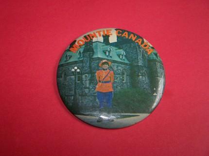 Mountie Canada - Souvenir Button - Vintage