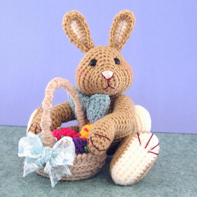 Crochet Pattern, Harvey Thumper Easter Bunny Rabbit, PDF File