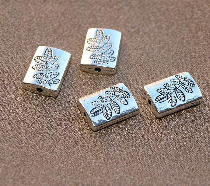 Fern Pewter Beads 11-266