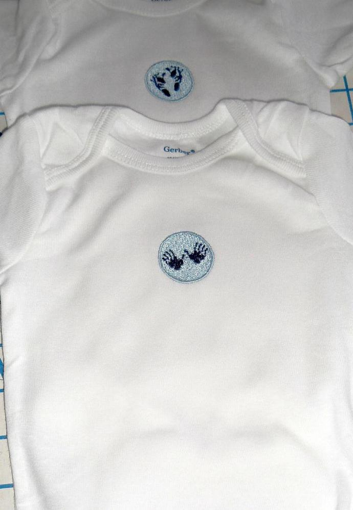 HANDS AND FEET onesie for little boy