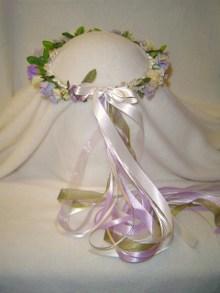 Carol's Wreath Hand Crafted Lavender /Ivory Renaissance