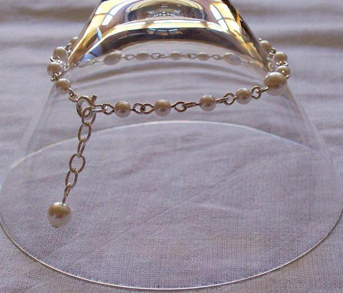 Pearl Swarovski Crystal - Silver Plated Bracelet