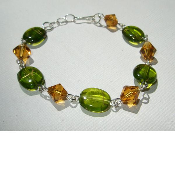 Gold & green bracelet