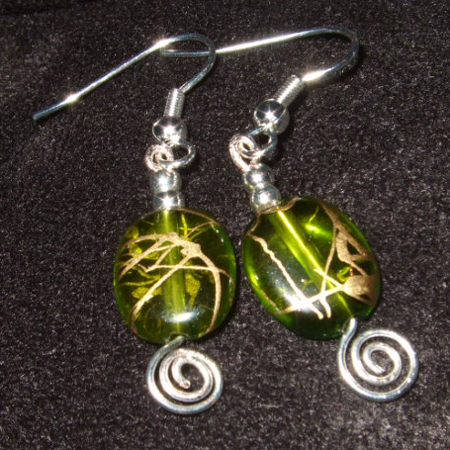 Green & Gold earrings