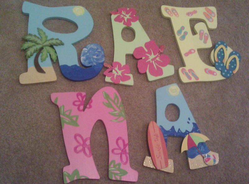 custom beach theme letters by danarailey on zibbet