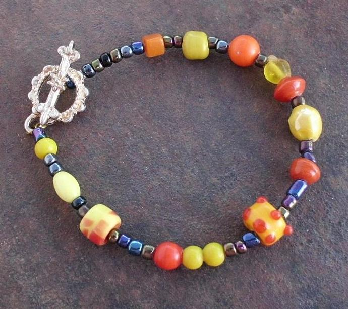 Fun and Colorful  Sunny Day Bracelet