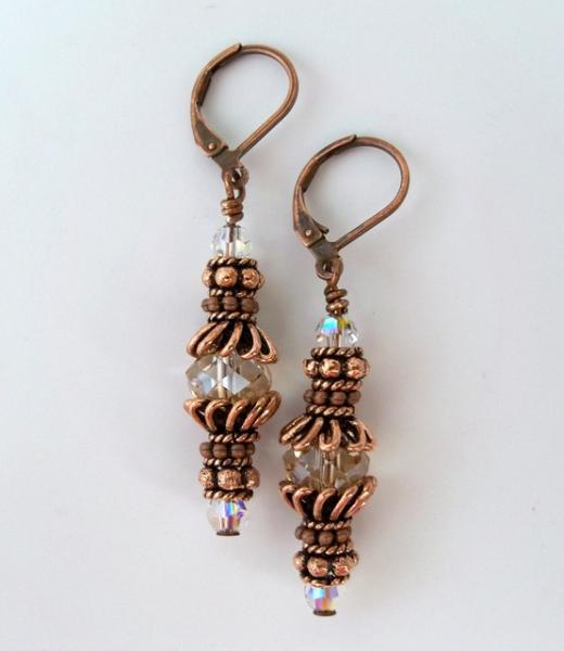 "Earrings  ""Crazy for Copper"""