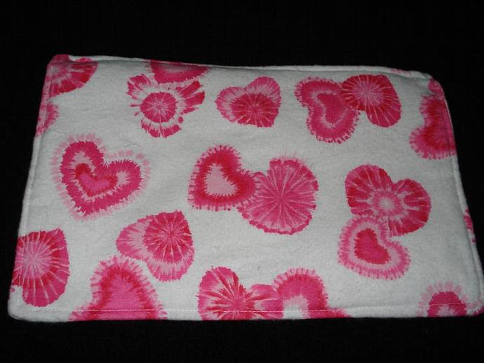 Envelope Clutch - Flannel with Hearts