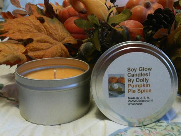 Pumpkin Pie Spice- 8oz. tin Soy  Candle