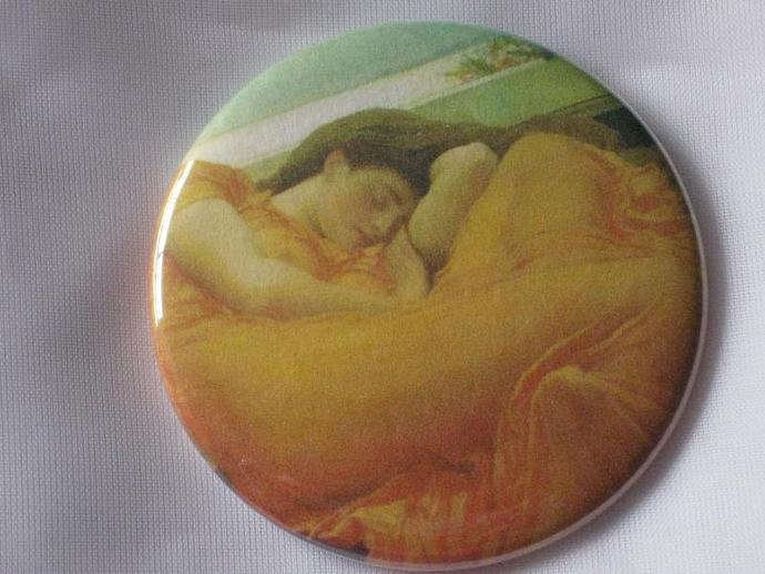 Pin Back Button - Vintage Beauty