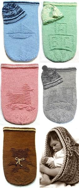 BABY COCOON Knitting Pattern - 2 for $11.5, Free Hat & Pod Knitting Patterns -