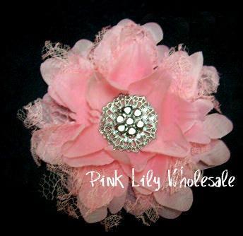 PINK Vintage Lace Flower