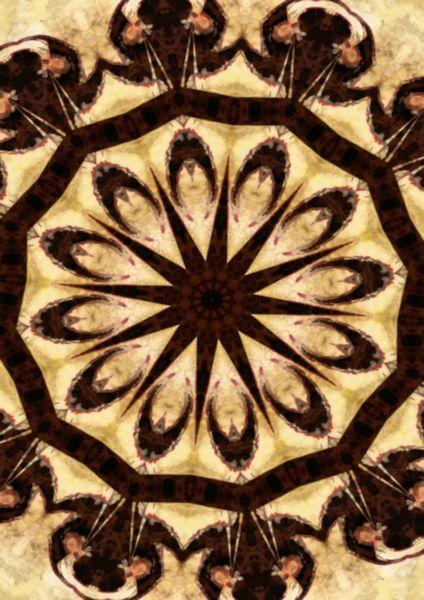 Small poster - Brown/Cream mandala