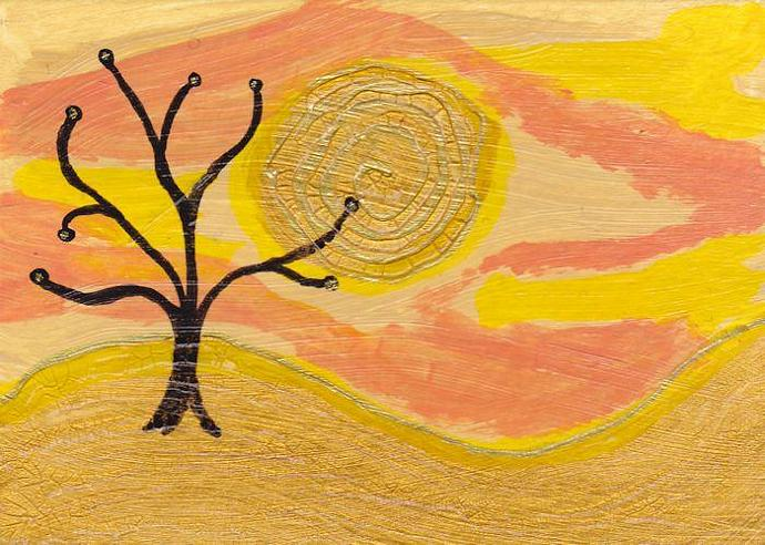 ACEO Original painting - 'Heat.'