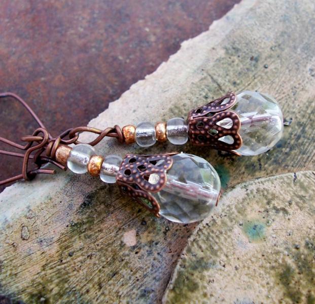 Sparkle Plenty Drop Earrings with Copper