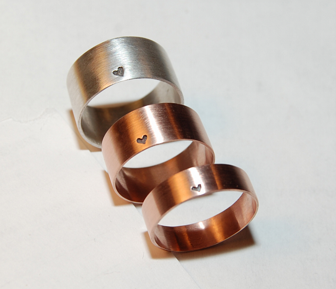 A LittleLittle Bit of Heart Rose Gold wedding band