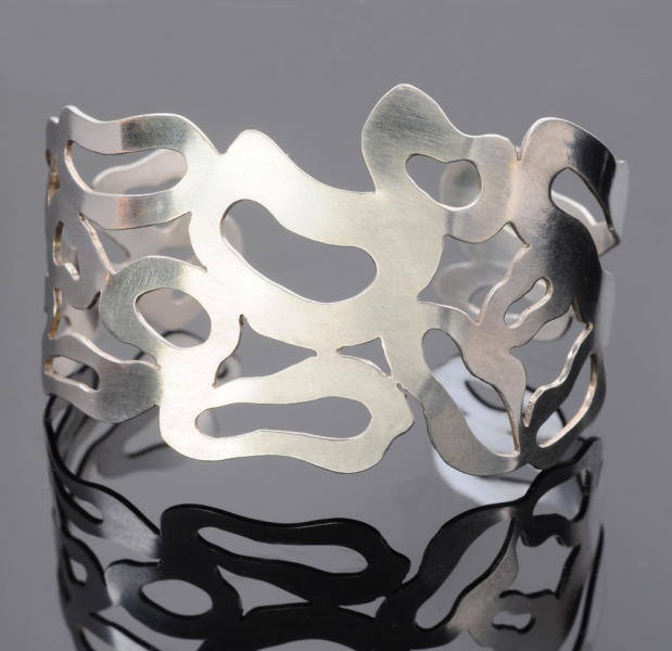 Coral Reef Sterling Silver Cuff Bracelet