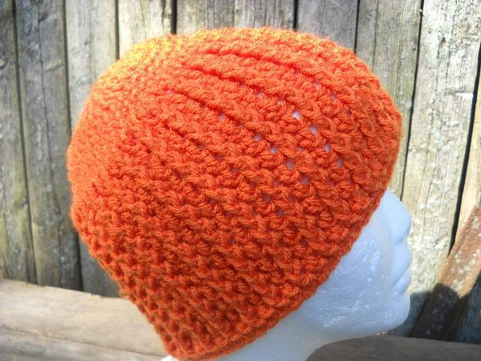 Pumpkin Spice Cabled Beanie with Flower