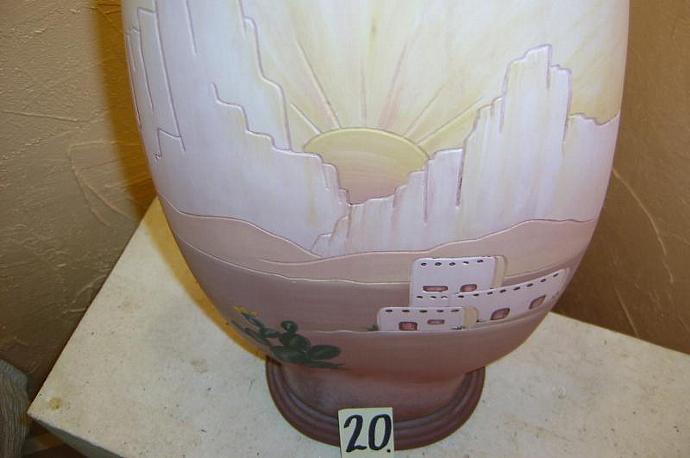 E-LNT-20 -  ADOBE SUNSET LAMP