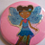 Fairies...Set of 4 glittery pins
