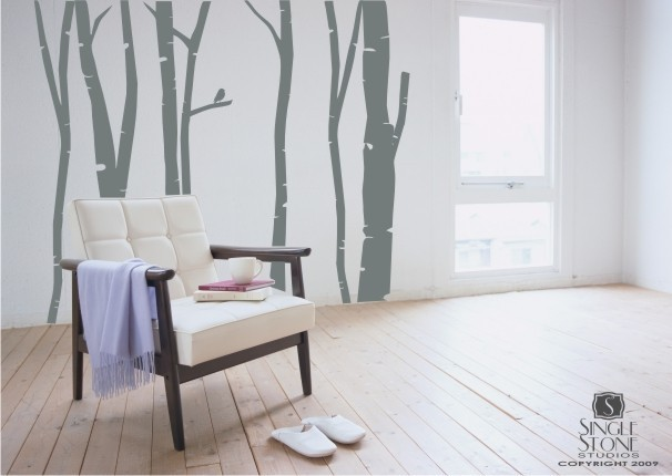 Birch Trees - Vinyl Wall Decals