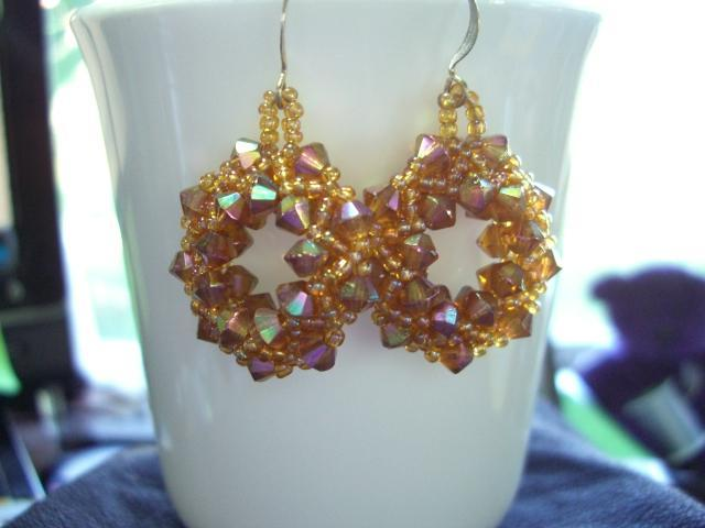 Golden Topaz Hoop Earrings