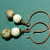 Unakite and Vintage Bead Earrings on Copper