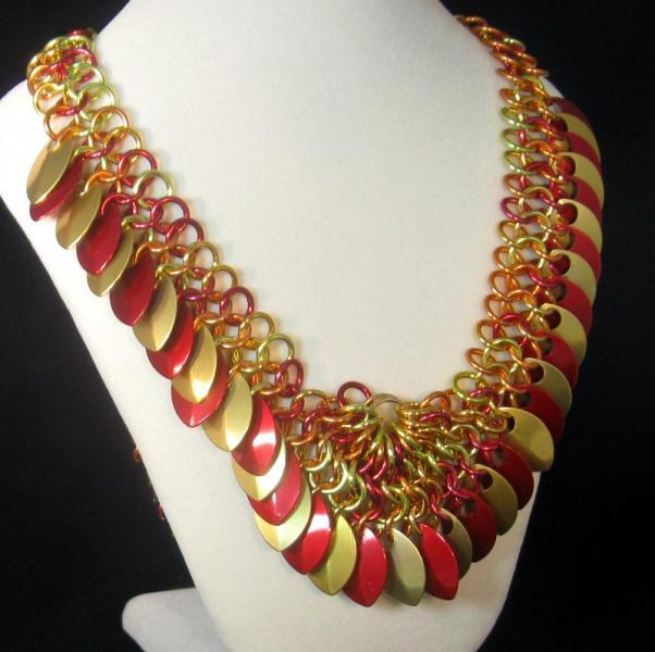 Phoenix Rising Chainmail Necklace