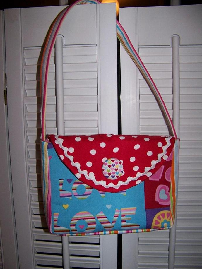 Little Girl Purse pdf Pattern and Tutorial easy sewing pattern
