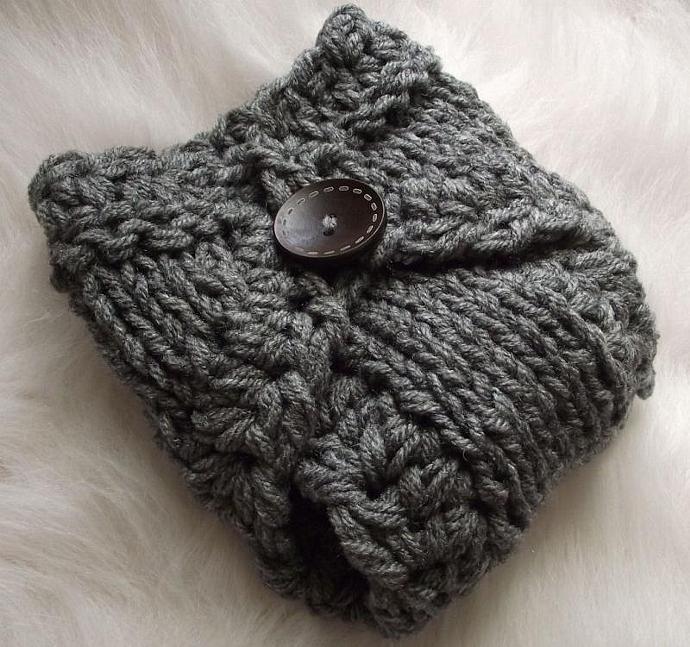 Custom Order Newborn Faux Hawk Earflap/Aviator Hat Slate Grey - Ask for Colors