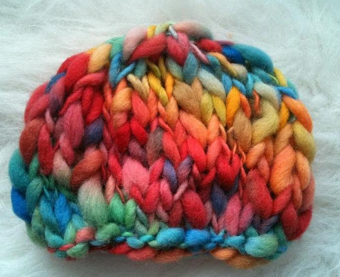 Newborn Woolly Beanie- Candy